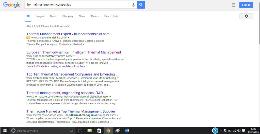 SEO for a technical company