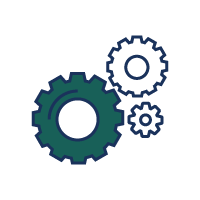Cogs icon - automate your sales and marketing processes